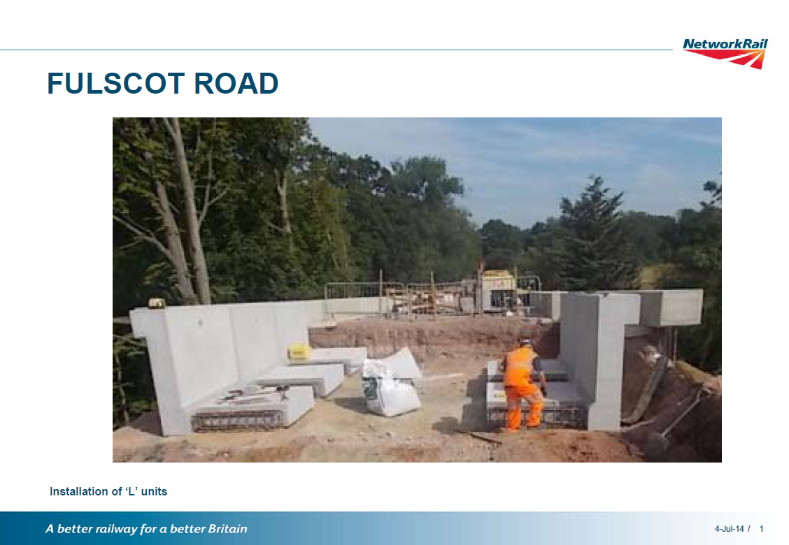 Fulscot Bridge update
